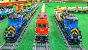 LEGO® train ACTION! Model trains! EPIC COMPILATION!