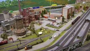 The Biggest Model Railroad Layout in HO Scale with more than 200 Model Trains made by Marklin