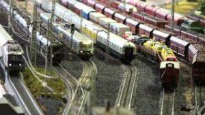 A day with model trains, ein Tag mit der Märklin Modelleisenbahn, Marklin Modeltrain Layout