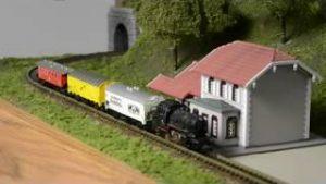Z scale model railroad