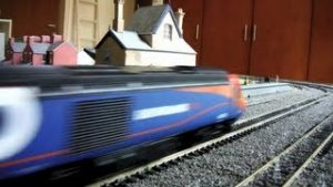 Model Trains on Ballasted Track