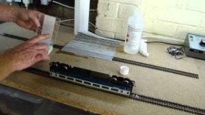 Model Railway Hints & Tips. Clean rolling stock wheels.