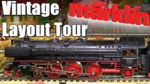 Vintage Marklin HO Scale Model Railroad Layout Tour 1950s Märklin Model Railway