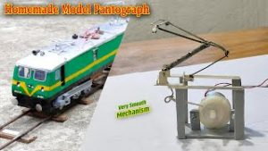 How To Make Automatic Pantograph | Very Smooth Mechanism For Model Train