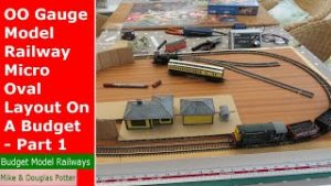 OO Gauge Model Railway / Railroad Micro Oval Layout On A Budget – Part 1