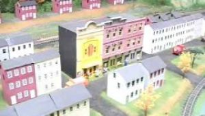 ETS model trains on the layout in Frackville, PA