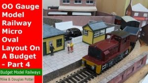 OO Gauge Model Railway / Railroad Micro Oval Layout On A Budget – Part 4 – Buildings
