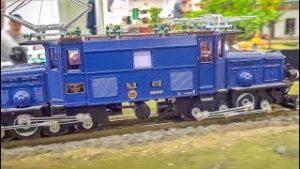 Wonderful HUGE model Trains in motion! Awesome model railway!