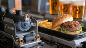 Restaurant Delivers Food & Drinks By Model Train!