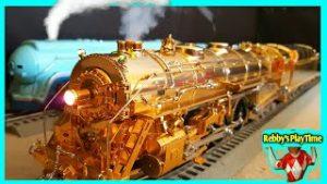 Choo Choo Train Real Smoke Toy Trains Rebby's PlayTime