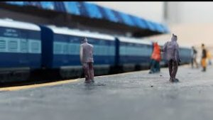 AMBIENCE OF INDIAN RAILWAY  MODEL TRAIN ARRIVING AND DEPARTING FROM  STATION  | CENTY TOY TRAIN