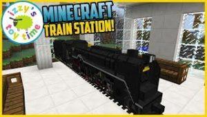 Minecraft TRAIN STATION! Fun Toy Trains