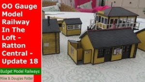OO Gauge Model Railway In The Loft – Ratton Central – Station & Goods Buildings – Update 18