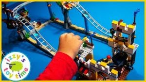 LEGO PIRATE ROLLER COASTER! Fun Toy Trains and Toy Cars