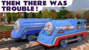 Thomas The Tank Engine Then There Was Trouble Race Accident Toy Trains Story with Play Doh T4U