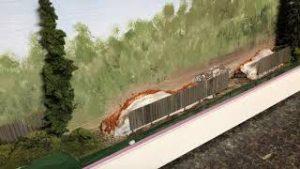 Model Railroad HO Scale Backdrop Junkyard Scene Addition