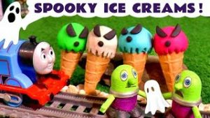 Spooky Play Doh Ghost Ice Cream Stories with Thomas The Train and Funny Funlings TT4U