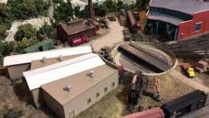 Model Railroad N Scale Details, Roads and Trains Running