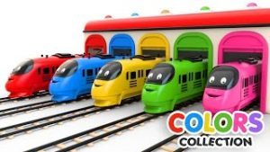 Colors for Children to Learn with Toy Trains – Colors Videos Collection