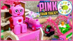 Mom Makes an ALL PINK THOMAS TRACK?! Fun Toy Trains !