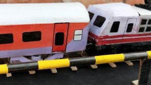 HOW TO MAKE INDIAN  MODEL TRAIN COACH LHB RED    STOP MOTION