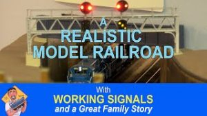 REALISTIC MODEL RAILROAD WITH WORKING SIGNALS AND MORE!