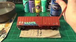 Painting Realistic Graffiti On Model Trains!