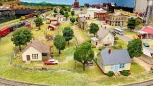Large Private Model Railroad HO Scale Train Layout at the East Texas Model Railroad Club Part 1