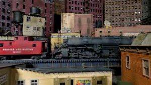 Model Train Layout N&W in the City