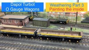 Model Trains 139 – Weathering Dapol O gauge Turbot wagons wood Part 3 Hither Green TMD In O Gauge
