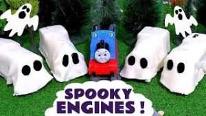 Thomas and Friends Spooky Toy Trains with a Play-Doh Ghost Train Game- Toy games for Kids TT4U