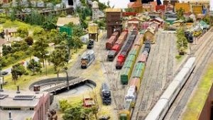 Beautiful Private Model Railroad HO Scale Train Layout at the Ocala Model Railroad Club