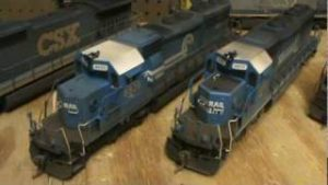 More Weathered CSX model trains HO Scale!!!!!!!