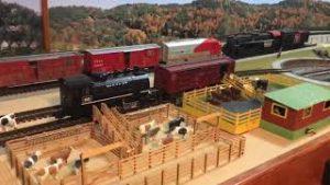 Model railroad cattle transpost