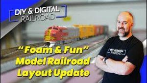 """""""Foam and Fun""""  DDRR 3.0 Model Railroad Layout Update #2"""