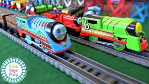 Thomas The Train Turbo Speed Trackmaster Races | Thomas and Friends Toy Trains