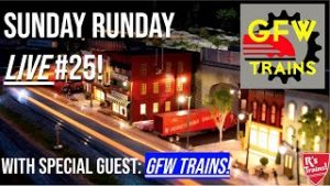 Sunday Runday #25!! Running Model Trains LIVE with GFW Trains! 4/18/21