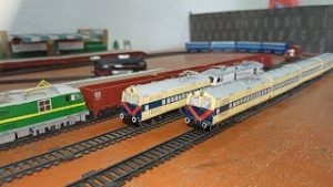 Indian Memu?Toy Train Model || Handmade?memu local train toy || Long memu train of Railking & Centy
