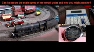 Can I measure the scale speed of my model trains and why you might want to