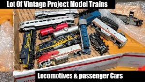 Lot of Vintage Project Model Trains – Locomotives & More! Unboxing