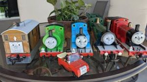 All My Thomas & Friends Model Trains On A Racing Layout