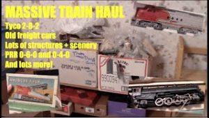 MASSIVE model train haul! Vintage trains + scenery!