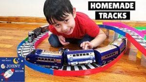 High Speed Train Toy | We Build A Cardboard Train Track