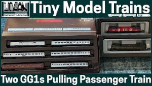 72   Tiny Model Trains   Two GG1s Pulling A Passenger Train   Atlantic Coast Lines and PRR   #Shorts