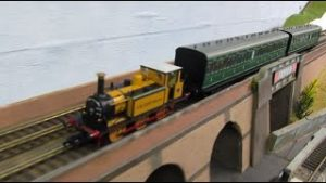 Buckland Junction Loft Model Railway 75. A railway modeller visits and brings locomotives & coaches