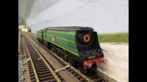 Buckland junction Loft Model railway 74. Alan in the loft receives a new locomotive to his fleet.