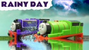 Rainy Day Rescue with Thomas and Friends Toy Trains and Funny Funlings