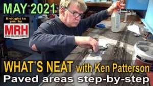 Paved areas step-by-step | May 2021 WHATS NEAT Model Railroad Hobbyist