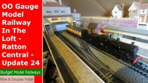 OO Gauge Model Railway In The Loft – Ratton Central – Raised Terminus Station Building – Update 24