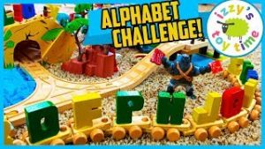 ALPHABET TOY CHALLENGE WITH AUNT HOOD! Thomas and Friends Fun Toy Trains !